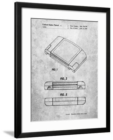 PP451-Slate Nintendo 64 Game Cartridge Patent Poster-Cole Borders-Framed Giclee Print