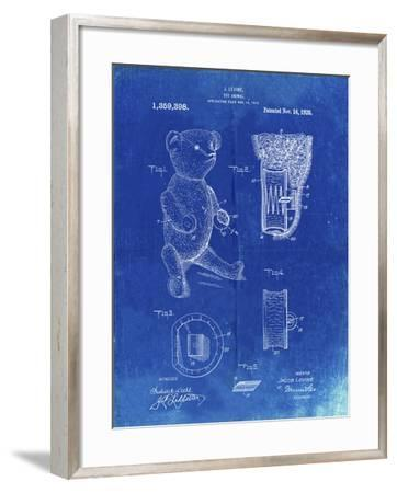 PP452-Faded Blueprint Whistle Teddy Bear 1919 Patent Poster-Cole Borders-Framed Giclee Print