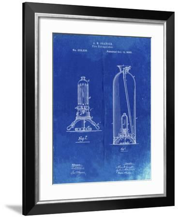 PP461-Faded Blueprint Antique Fire Extinguisher 1880 Patent Poster-Cole Borders-Framed Giclee Print
