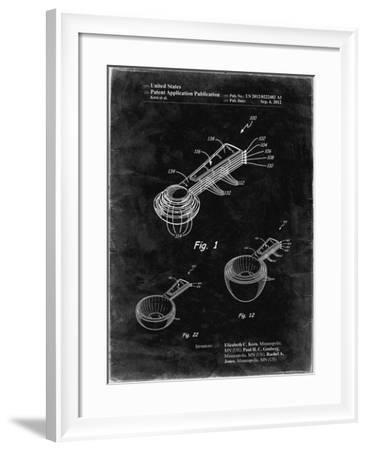 PP484-Black grunge Stacking Measuring Cups Patent Poster-Cole Borders-Framed Giclee Print