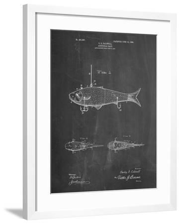 PP485-Chalkboard Fishing Artificial Bait Poster-Cole Borders-Framed Giclee Print