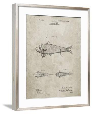 PP485-Sandstone Fishing Artificial Bait Poster-Cole Borders-Framed Giclee Print