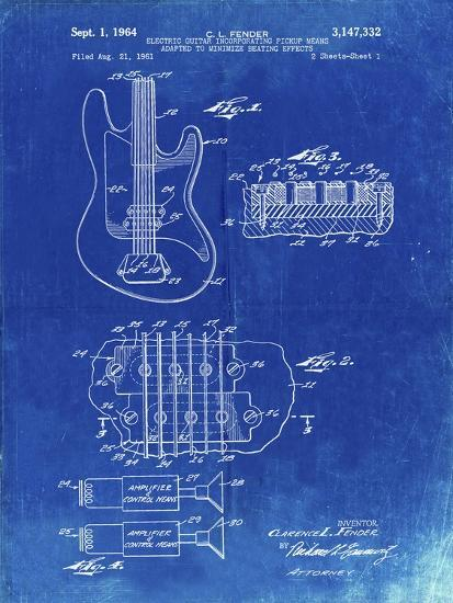 PP49 Faded Blueprint-Borders Cole-Giclee Print