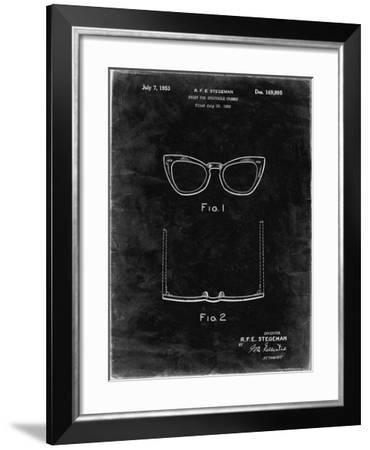PP541-Black Grunge Ray Ban Horn Rimmed Glasses Patent Poster-Cole Borders-Framed Giclee Print