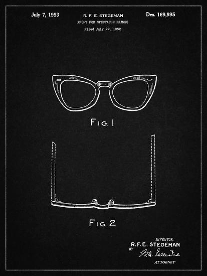 d5e34b74d92c8 PP541-Vintage Black Ray Ban Horn Rimmed Glasses Patent Poster Giclee Print  by Cole Borders
