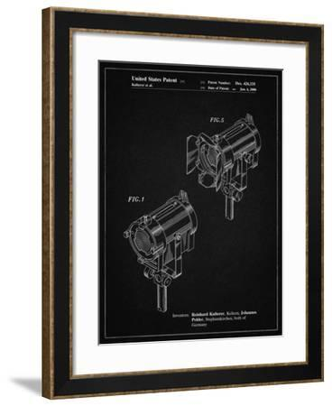 PP548-Vintage Black Stage Lighting Patent Poster-Cole Borders-Framed Giclee Print