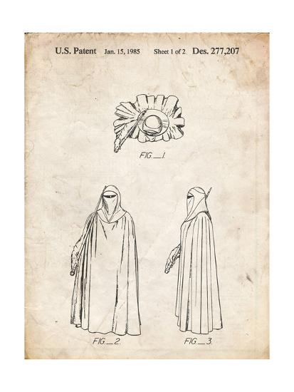 PP598-Vintage Parchment Star Wars Imperial Guard Patent Poster-Cole Borders-Giclee Print