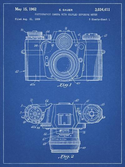 PP6 Blueprint-Borders Cole-Giclee Print
