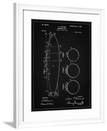 PP602-Vintage Black Holland 1 Submarine Patent Poster-Cole Borders-Framed Giclee Print