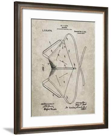 PP604-Sandstone Brassiere (Bra) 1914 Patent Poster-Cole Borders-Framed Giclee Print