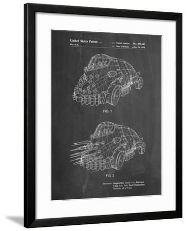 PP605-Chalkboard Batman and Robin Mr. Freeze Car Patent Poster-Cole Borders-Framed Giclee Print