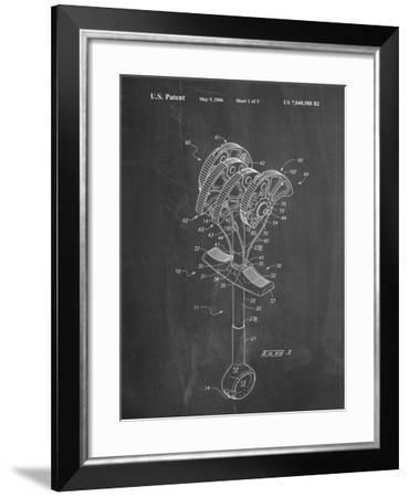 PP61-Chalkboard Omega Pacific Link Climbing Cam Patent Poster-Cole Borders-Framed Giclee Print