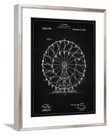 PP615-Vintage Black Ferris Wheel 1920 Patent Poster-Cole Borders-Framed Giclee Print