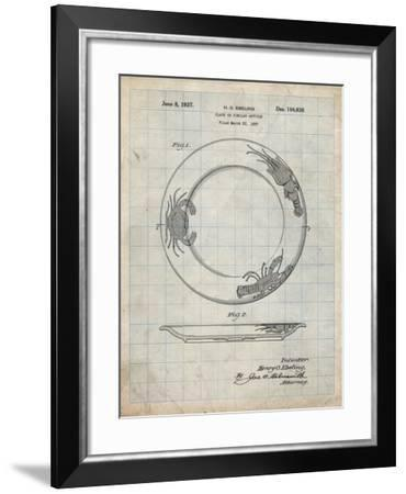 PP619-Antique Grid Parchment Sunshine Care Bear Patent Poster-Cole Borders-Framed Giclee Print