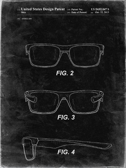PP640-Black Grunge Two Face Prizm Oakley Sunglasses Patent Poster-Cole Borders-Giclee Print