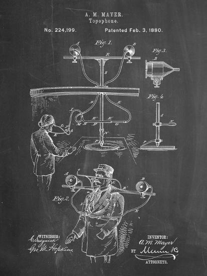 PP642-Chalkboard Bowling Pin 1967 Patent Poster-Cole Borders-Giclee Print
