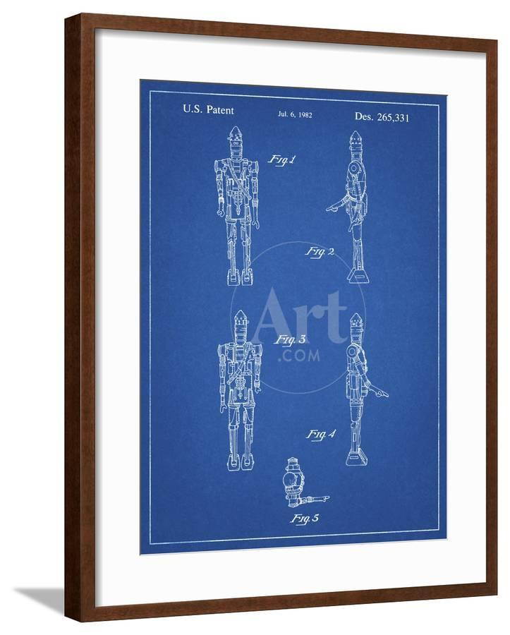 PP646-Blueprint Star Wars IG-88 Assassin Droid Patent Wall Art Poster  Giclee Print by Cole Borders | Art com
