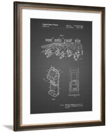 PP654-Black Grid Bowling Alley Patent Poster-Cole Borders-Framed Giclee Print