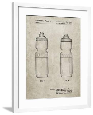 PP669-Sandstone Cycling Water Bottle Patent Poster-Cole Borders-Framed Giclee Print