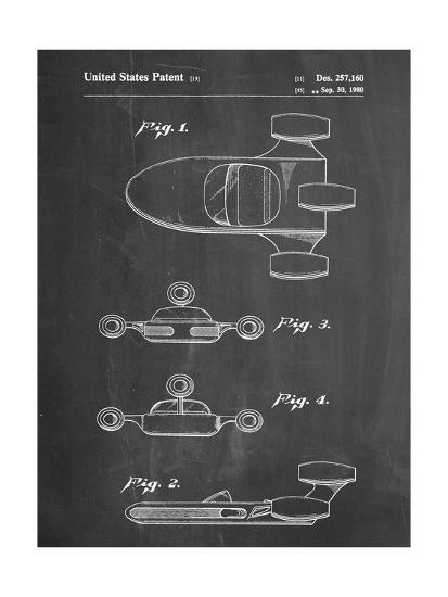 PP673-Chalkboard Star Wars Landspeeder Patent Poster-Cole Borders-Giclee Print