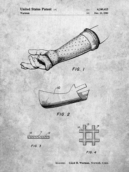 PP687-Slate Orthopedic Hard Cast Patent Poster-Cole Borders-Giclee Print