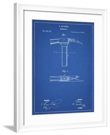 PP689-Blueprint Claw Hammer 1874 Patent Poster-Cole Borders-Framed Giclee Print