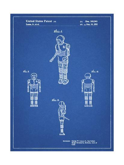 PP691-Blueprint Star Wars Medical Droid Patent Poster-Cole Borders-Giclee Print