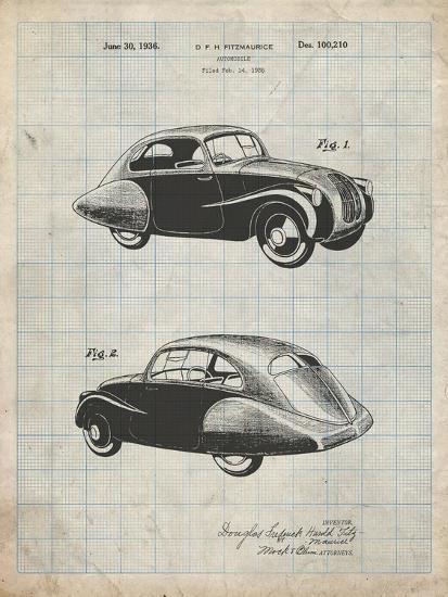 PP697-Antique Grid Parchment 1936 Tatra Concept Patent Poster-Cole Borders-Giclee Print