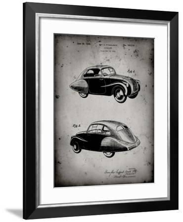 PP697-Faded Grey 1936 Tatra Concept Patent Poster-Cole Borders-Framed Giclee Print