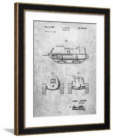 PP705-Slate Armored Tank Patent Poster-Cole Borders-Framed Giclee Print