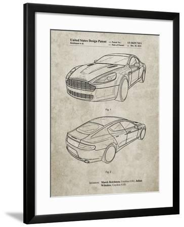 PP709-Sandstone Aston Martin DBS Volante Patent Poster-Cole Borders-Framed Giclee Print