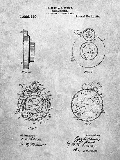 PP720-Slate Bausch and Lomb Camera Shutter Patent Poster-Cole Borders-Giclee Print