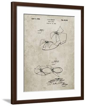 PP722-Sandstone Beach Sandal 1934 Patent Poster-Cole Borders-Framed Giclee Print