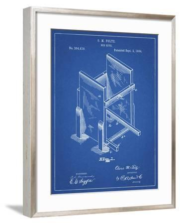 PP725-Blueprint Bee Hive Frames Patent Poster-Cole Borders-Framed Giclee Print