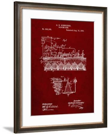 PP728-Burgundy Beer Brewing Science 1893 Patent Poster-Cole Borders-Framed Giclee Print