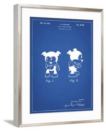 PP738-Blueprint Bimbo Fleischer Studios Cartoon Character Patent Poster-Cole Borders-Framed Giclee Print