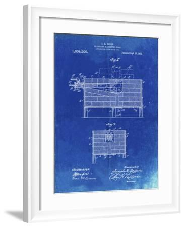 PP742-Faded Blueprint Blacksmith Forge Patent Poster-Cole Borders-Framed Giclee Print