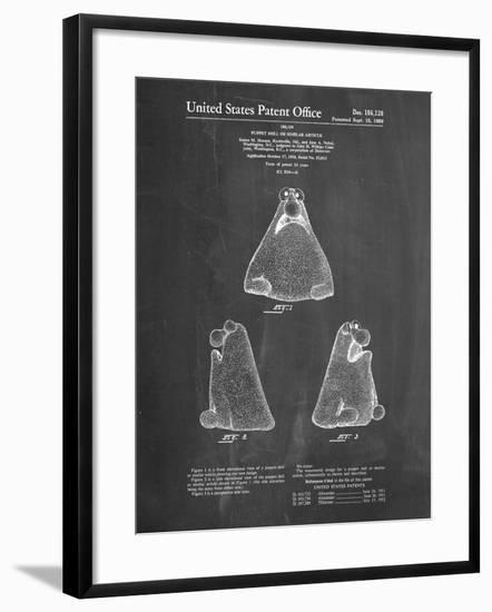 PP75-Chalkboard Wilkins Coffee (Wontkins) Muppet Patent Poster-Cole Borders-Framed Giclee Print