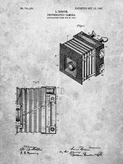PP753-Slate Borsum Camera Co Reflex Camera Patent Poster-Cole Borders-Giclee Print