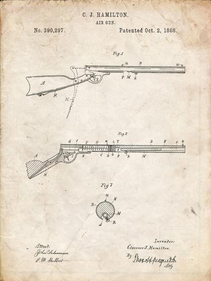 PP777-Vintage Parchment Daisy Air Rifle Patent Art Giclee Print by Cole  Borders | Art com