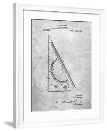 PP786-Slate Drafting Triangle 1922 Patent Poster-Cole Borders-Framed Giclee Print