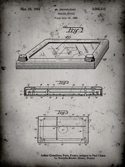 PP802-Faded Grey Etch A Sketch Poster Poster-Cole Borders-Giclee Print