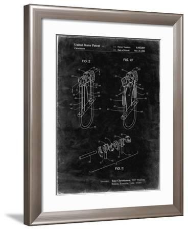 PP81-Black Grunge Rock Climbing Camalot Patent Poster-Cole Borders-Framed Giclee Print