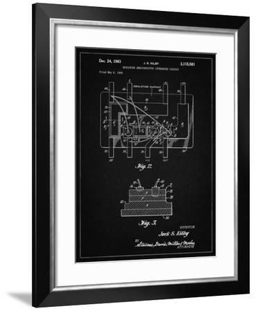 PP813-Vintage Black First Integrated Circuit Patent Poster-Cole Borders-Framed Giclee Print