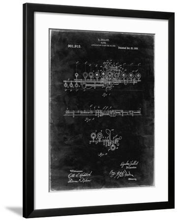 PP820-Black Grunge Flute 1908 Patent Poster-Cole Borders-Framed Giclee Print