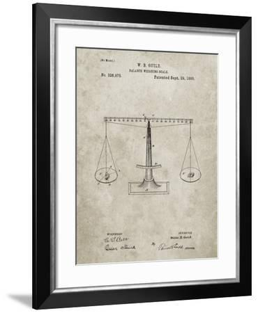 PP84-Sandstone Scales of Justice Patent Poster-Cole Borders-Framed Giclee Print