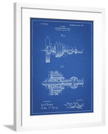 PP840-Blueprint Ford Drive Gear Patent Art-Cole Borders-Framed Giclee Print