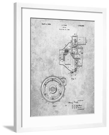 PP841-Slate Ford Engine 1930 Patent Poster-Cole Borders-Framed Giclee Print