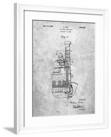 PP842-Slate Ford Fuel Pump 1933 Patent Poster-Cole Borders-Framed Giclee Print
