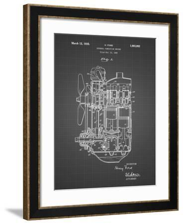 PP843-Black Grid Ford Internal Combustion Engine Patent Poster-Cole Borders-Framed Giclee Print